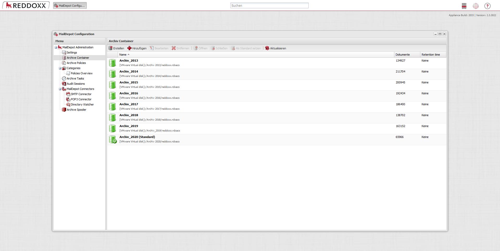 Die Archivcontainer der REDDOXX Appliance können dank Multi-Storage-Unterstützung auf verschiedene Speicherorte verteilt werden