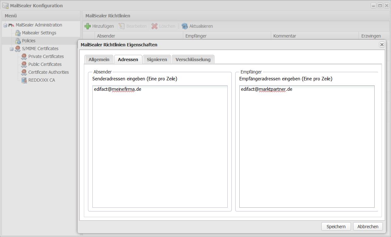 Digitale Signatur und E-Mailverschlüsselung konfigurieren - Absender und Empfänger definieren