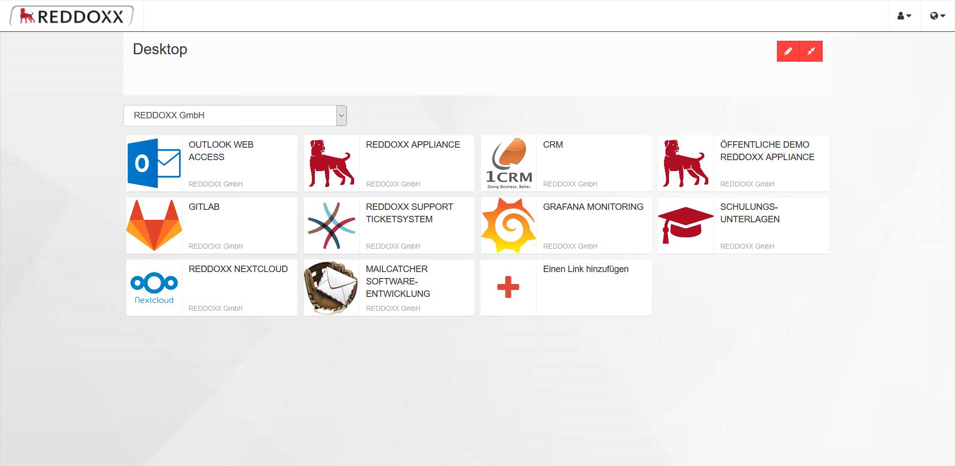 SimplexGate Desktop - Der Mitarbeiter hat alle Anwendungen auf einen Blick